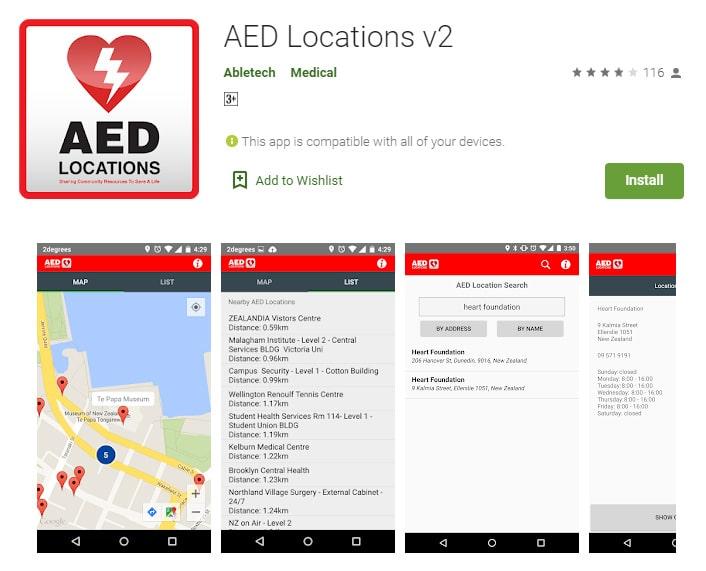 AED Locations App